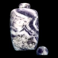 Vintage Chinese Amethyst Stone Snuff Bottle