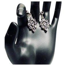 Sterling Silver Natural Amethyst Gemstone Earrings