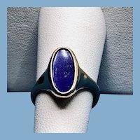 Excellent 18K Yellow Gold Lapis Lazuli Signet Ring
