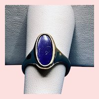 Excellent 18K Yellow Gold Lapis Lazuli Signet Ring