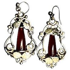 Vintage Goldfilled and Carnelian Earrings