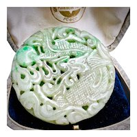 Vintage Jadeite Jade Celadon Color Pendant
