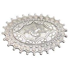 Vintage Silver Floral Brooch