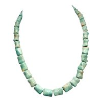Natural Turquoise Vintage Chunk Necklace - 1940s