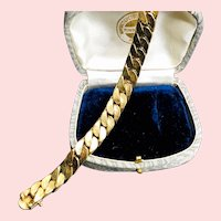 Signed Krementz GF Cable Bracelet - 1950-60s