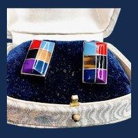 Multi-stone Sterling Silver Earrings