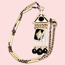 Vintage Gold-filled Watch Chain Fob - 1920-30s