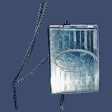 Antique Sterling Silver Four-photo Locket and Chain