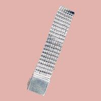 Estate Sterling Silver Mesh Bracelet