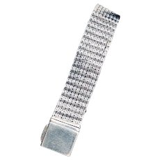 Estate Sterling Silver Mesh Bracelet