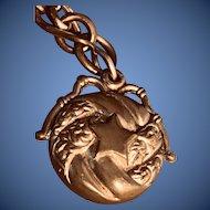 Antique Art Nouveau Watch Chain and Fob