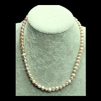 Pale Peach Pink Freshwater Pearl Necklace