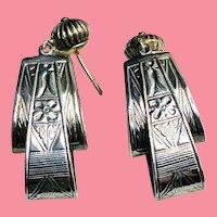 Estate Art Deco Fine Sterling Earrings