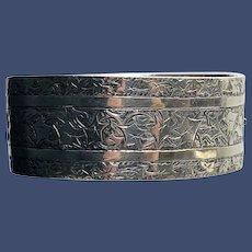Antique Victorian Sterling Silver Wide Cuff