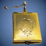 Gold-filled Watch Fob Locket and Chain