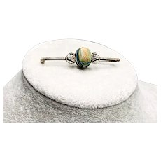 Egyptian Revival Silver Scarab Beetle Brooch