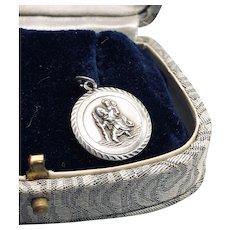 Vintage Signed Georg Jensen St Christopher Medal