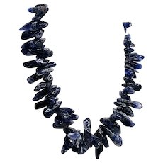 Natural Gemstone Amethyst Stick-shaped Large Beads Necklace