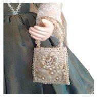 French Fashion ~ Bridal Aumoniere or Purse ~ Artist Made