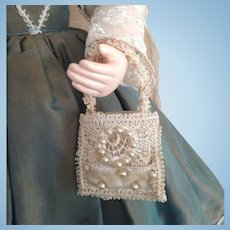 French Fashion ~ Bridal Aumoniere or Purse ~ Artist Made
