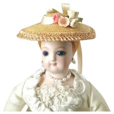 Tiny French Fashion or China ~ Garden Hat ~ Vintage Straw, Trims ~ Artist Made by Zofia Rose