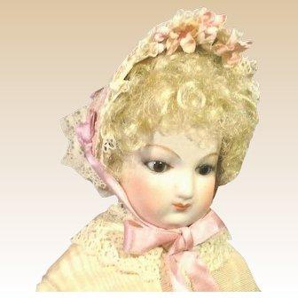"French Fashion ~ Fanchon Bonnet ~ All Vintage ~ Artist Made ~ 6-1/2"" ~ 7"" Head"