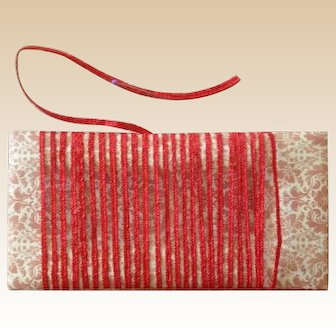 Vintage Millinery Straw ~Narrow Red
