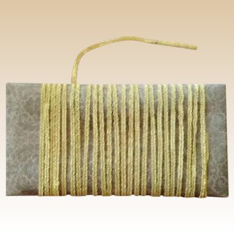 Vintage Millinery Straw ~Narrow Yellow