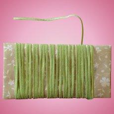 Vintage Millinery Straw ~ Narrow Spring Green