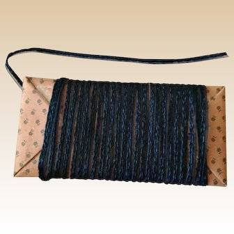 Vintage Millinery Straw with Horsehair Trim ~ Narrow Navy Blue