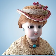 """French Fashion or Bebe Hat ~ All Vintage ~ for 8"""" - 9"""" Head"""