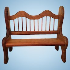 Large Vintage Wooden Doll Bench