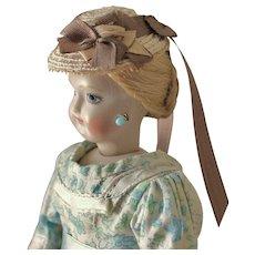 "French Fashion ~ Simon & Halbig 1160 ~ Tiny Hat for 4-1/2"" - 5"" Head ~ Artist Made"