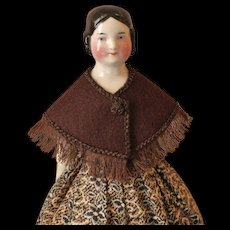 "Wool Shoulder Cape ~ Artist Made ~ for 12-13"" French Fashion or China Doll"