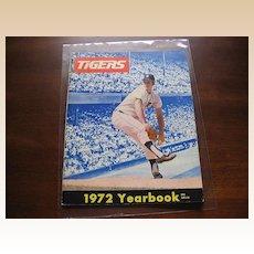 1972 Detroit Tigers Baseball Yearbook