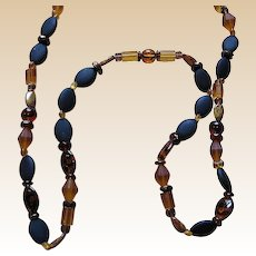 Vintage Signed Wendy Gell Beaded Necklace