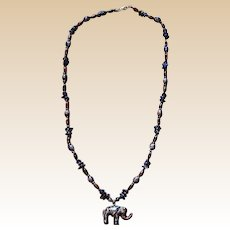 Beautiful Cloisonne Elephant Necklace