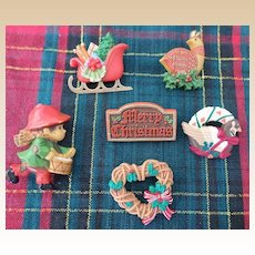 Hallmark Christmas Pin Lot 1