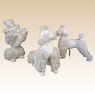 Enesco Spaghetti Art Poodle Figurine Set