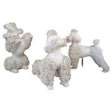 Enesco Spaghetti Art Poodle Figurine Set