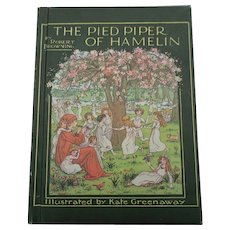 """Robert Browning The Pied Piper Of Hamelin"" Kate Greenaway Illustrator"