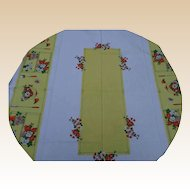 Colorful Linen Tablecloth
