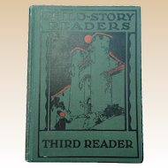 Rare 1927 Child Story Readers Third Reader