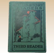 Rare 1927 Child Story Readers Third Reader