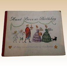 """Rare 1930 """"Aunt Brown's Birthday"""" First Edition Children Book"""