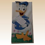 Rare Gibson Unused Walt Disney Donald Duck Kiddycard