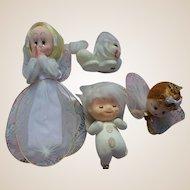 Vintage Japan Angel Ornament Set