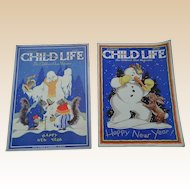 January 1930's Child Life Children Magazine Set Of Two