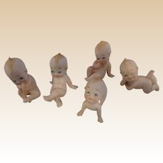 Lefton Porcelain Kewpies Cupids Set of Five