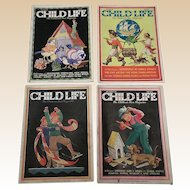 1930's March Child Life Magazine Set Of Four